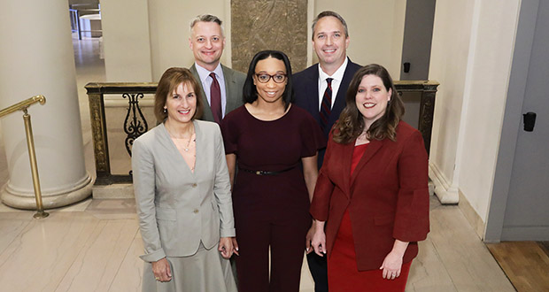 Pictured from Sapientia Law Group are, back row from left, Towle Neu and Nick Leonard, and, front row from left, Robin Wolpert, Demetria Dyer and Sonia Miller-Van Oort.
