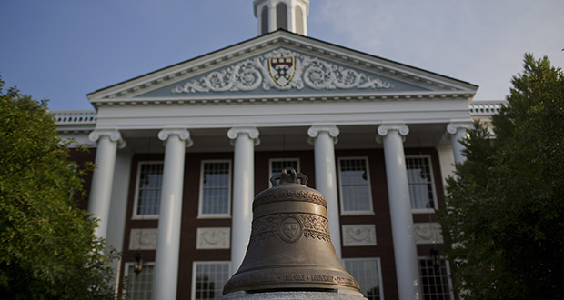 The Baker Library of the Harvard Business School stands on the Harvard University campus in Cambridge, Massachusetts. Harvard University, established in 1636, is the United States' oldest institution of higher learning. (Bloomberg file photo)