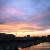 船橋の夕景