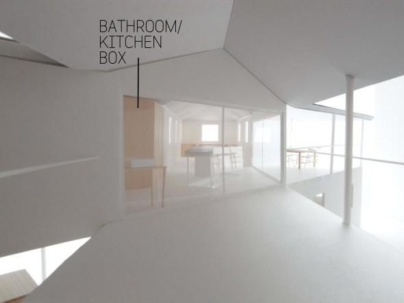 Half bathroom box, half kitchen cupboard.