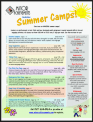 Summer Camp Flyer