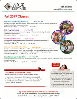 Fall Classes Flyer