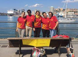 Osservatorio Salesiano per i Diritti dei Minori al porto di Genova con i giovani missionari