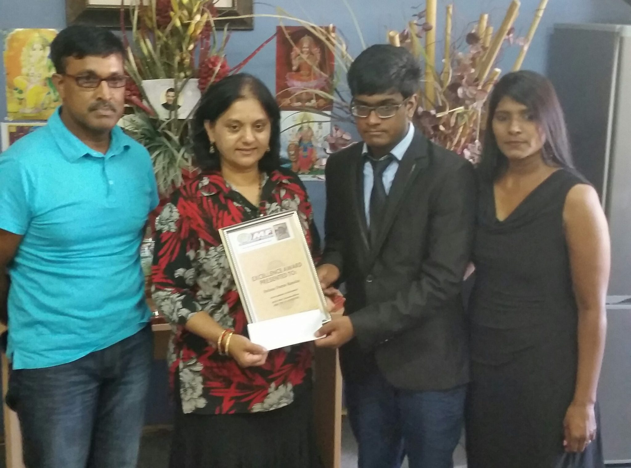 Minority Front Celebrates Top Achiever