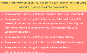 RESPECTFUL MATERNITY CARE : UNIVERSAL RIGHTS OF CHILDBEARING WOMEN
