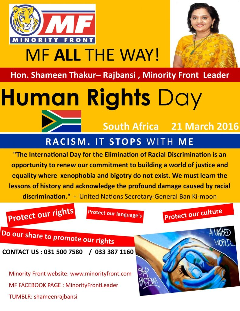 Human rights 21 march 2016