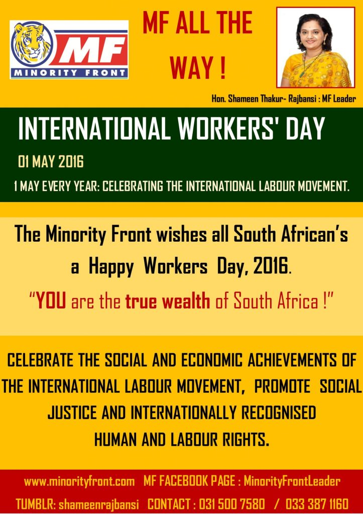 workers day 1 may 2016