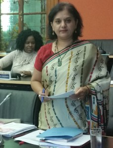 Mrs ST Rajbansi debating mothers rights in parliament.