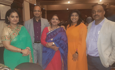 Pictured: (left to right) MF Leader, Hon Shameen Thakur Rajbansi, with Mr Goyal of Zee TV, Africa and Asia Region, and MINORITY FRONT NEC members Hon Vimmi Ramdaas Bachu, Priyanka Nunkumar and Viresh Bhana at the Zee Tv Miss India South Africa Pageant 20