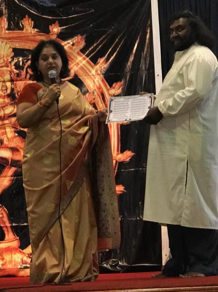 MF LEADER SUPPORTS LOCAL DANCE INSTITUTE's AWARDS DAY: Minority Front Leader, Hon Shameen Thakur-Rajbansi was the guest of honour at the Krish Swamivel Dance Institute's Dance Display and Awards Presentation 2018. She addressed the audience of the topic o