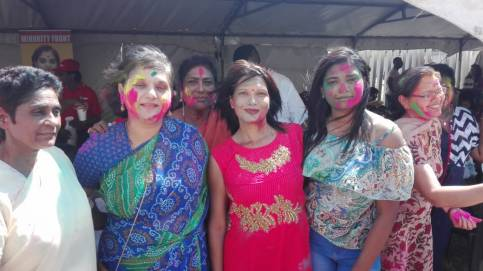 Holi is the festival of love and colour🥰🤩🥳 The Minority Front in association with the Shiv Shakti Sanathan Dharma Sabha held their Holi Celebration yesterday at the Rydalvale Grounds, Phoenix. The celebrations embraced the religious aspects as well as fun, festivity, food, music, dance and lots of colour. Testimony of unity in diversity and social cohesion.