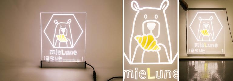 포인트 색상 작업된 LED 사인