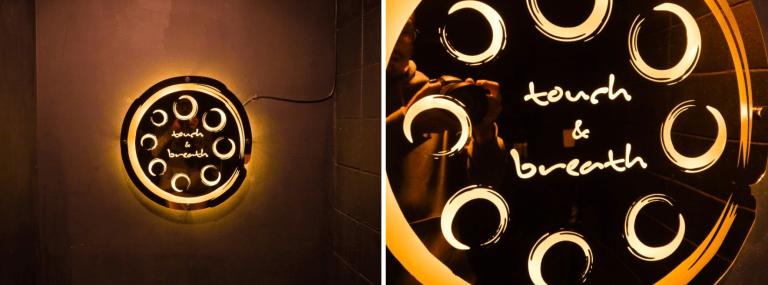 벽간판, 카페 벽조명 벽등 후광사인