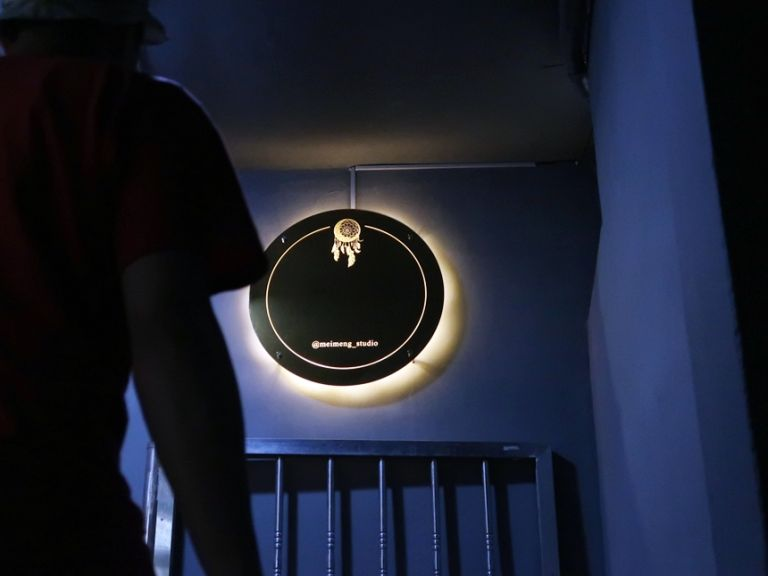 실내간판 골드미러 거울간판 024외부간판 LED간판 LED사인 거울사인