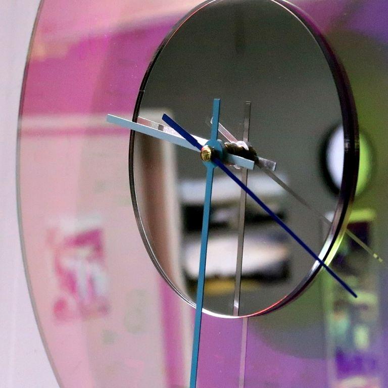 오로라 시계 조명시계 투명시계 005 다이크로익 벽시계 시계선물 시계조명 주문제작시계