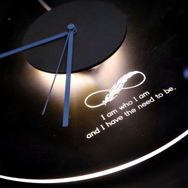 오로라 시계 조명시계 투명시계 008 다이크로익 벽시계 시계선물 시계조명 주문제작시계