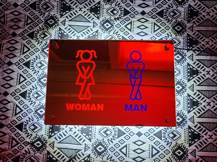 후광간판 LED거울 거울간판 LED조명거울 013 셀카존 포토존 미러사인 거울후광 후광사인 거울디자인