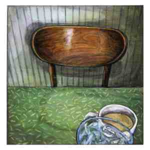 painting of an empty chair at a diner in Sea Isle City, New Jersey
