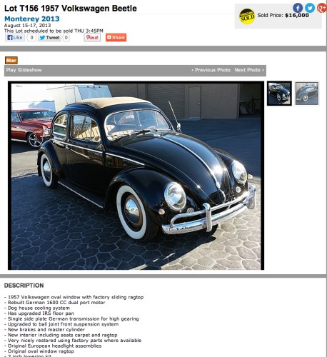 1957 Volkswagen Beetle Sedan