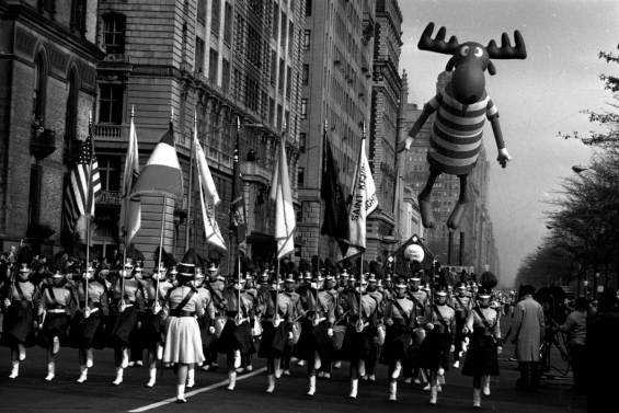 Bullwinkle was a big star back in the day...bigger than co-star Rocky some say. Macy's Thanksgiving Day Parade, early 1960s.