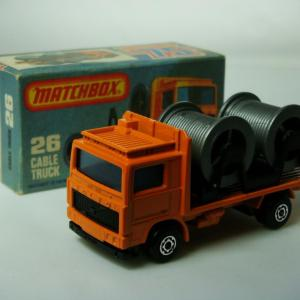 Matchbox Superfast No.26E Volvo Cable Truck