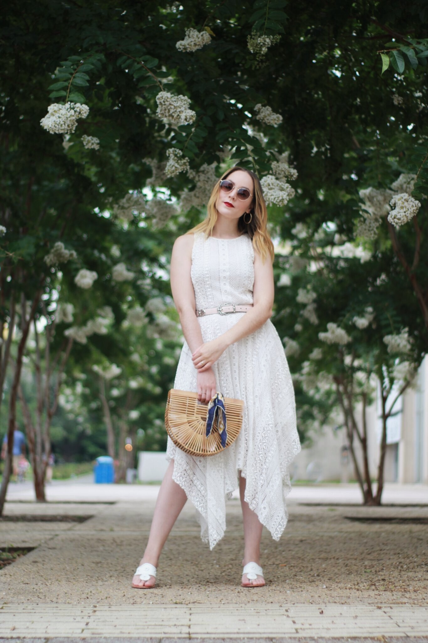 How to Accessorize a Little White Dress