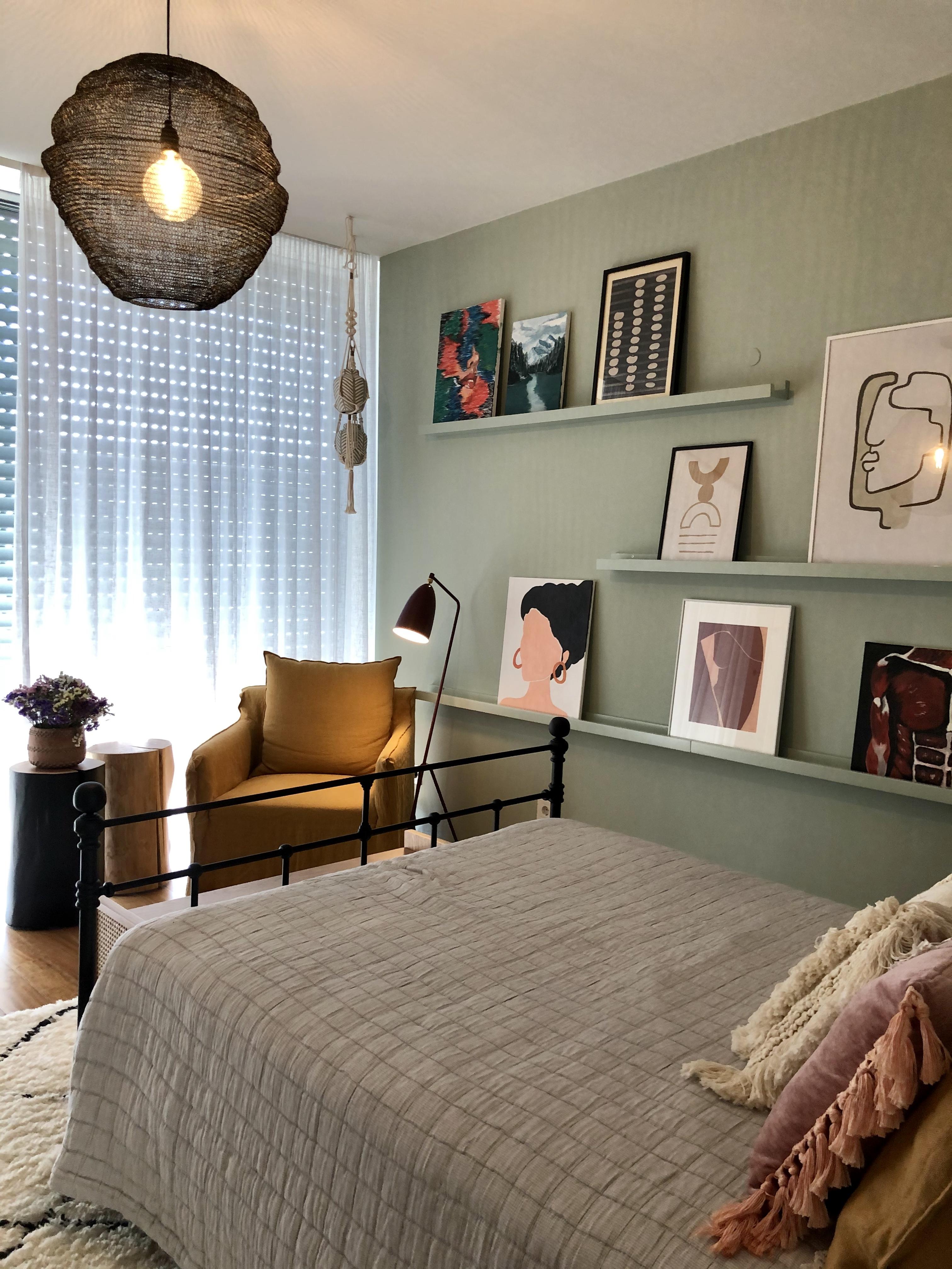 Iluminação funcional no quarto de dormir Mint Design
