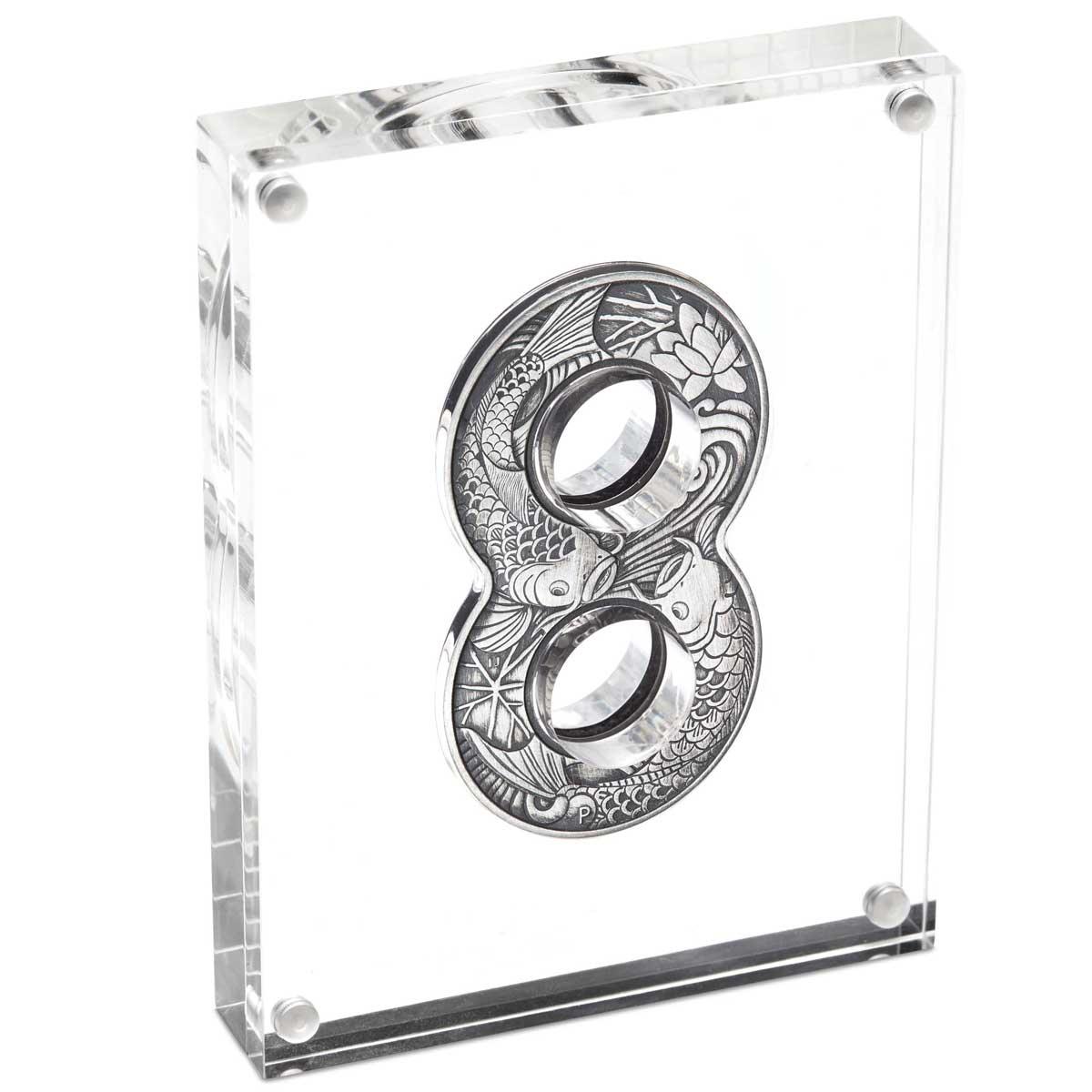 Figure Eight Koi Fish Australia 2oz Silver Coin