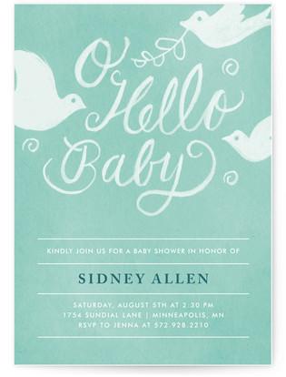 Matthiola Vintage Baby Shower Invitations