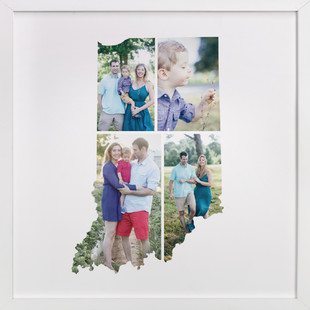 Indiana Love Location Custom Photo Art Print