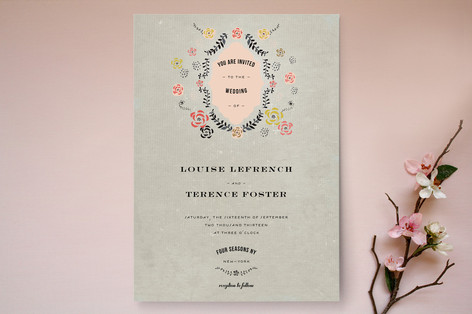 Rustic Tree Wedding Invitation Romantic Vintage Suite