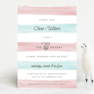 Cotton Candy Baby Shower Invitations By