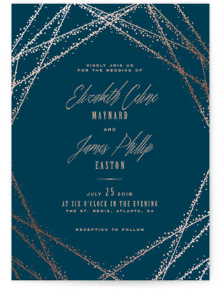 Starry Night Wedding Invitations Minted