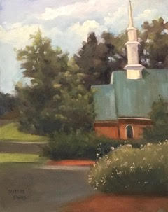 Mint Hill Sanctuary, Plein Air, Oil
