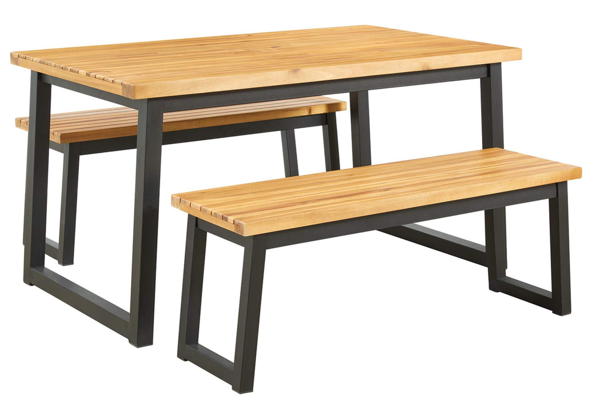 town wood outdoor dining table set set