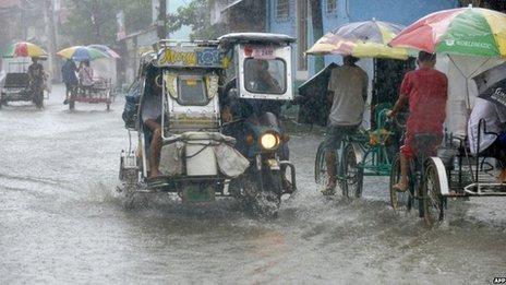 Typhoon Utor, the Philippines BBC News