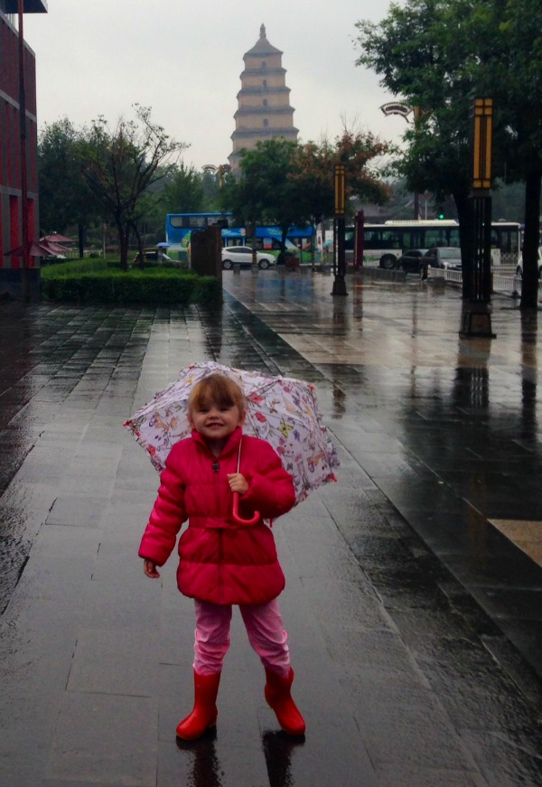 Day 1: China. Welcome to a wet and rainy Xi'an!