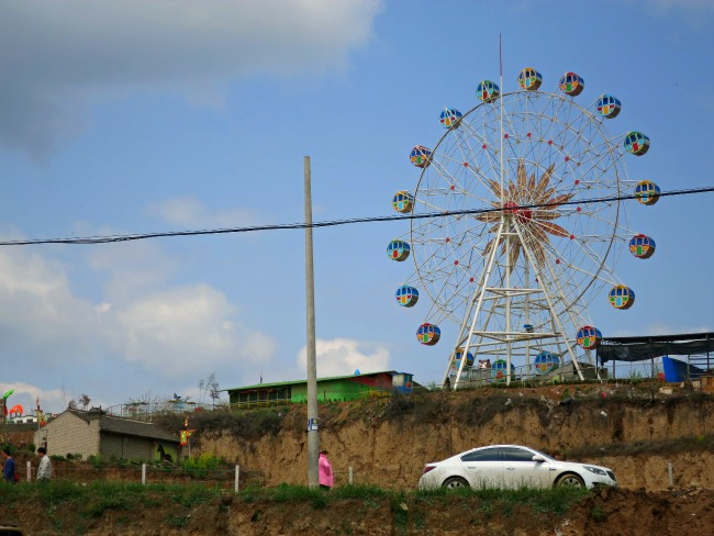 China: Visiting a village in the middle of nowhere and what do you know, a theme park! #Chinalife #XianScenes