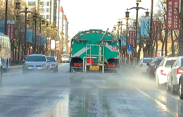 "China: It's pretty dusty in Xi'an so there are hundreds of these road cleaners washing down the streets all day, cruising to the tune of ""It's a small world after all..."" #itsnotmrwhippy #livinginChina"