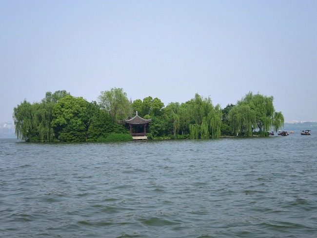 Islands on Hangzhou's Lake in China