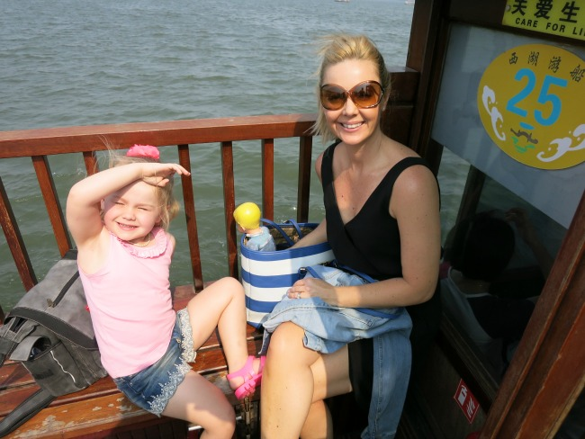 Cruising hangzhou's lake China