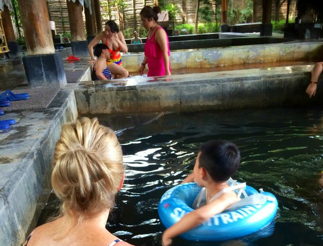 Foreigners at China Hot Springs