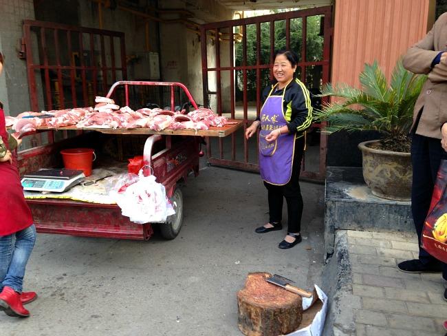Buying Meat in Xian China