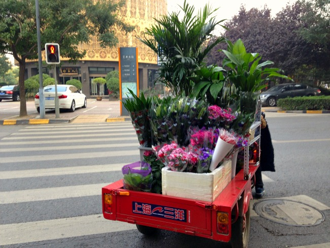 Buying Flowers in China