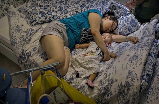 Ikea Sleeping Mum & Baby