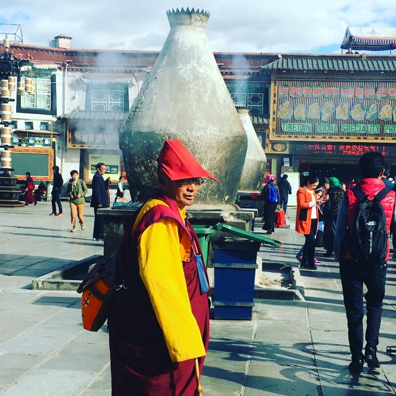 Visiting Barkhor bazaar Tibet