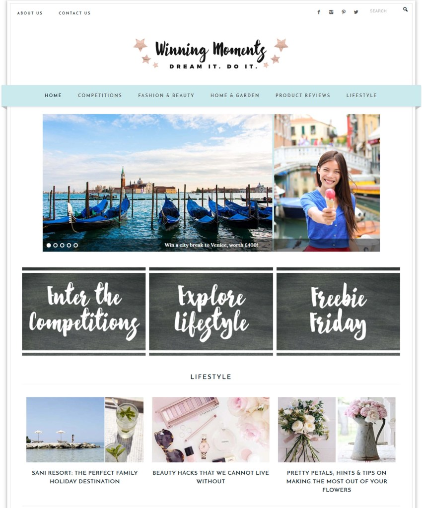 If you want to see their new, gorgeous website with logo designed by me live head to http://winningmomentsonline.co.uk or see it on a website mockup below: