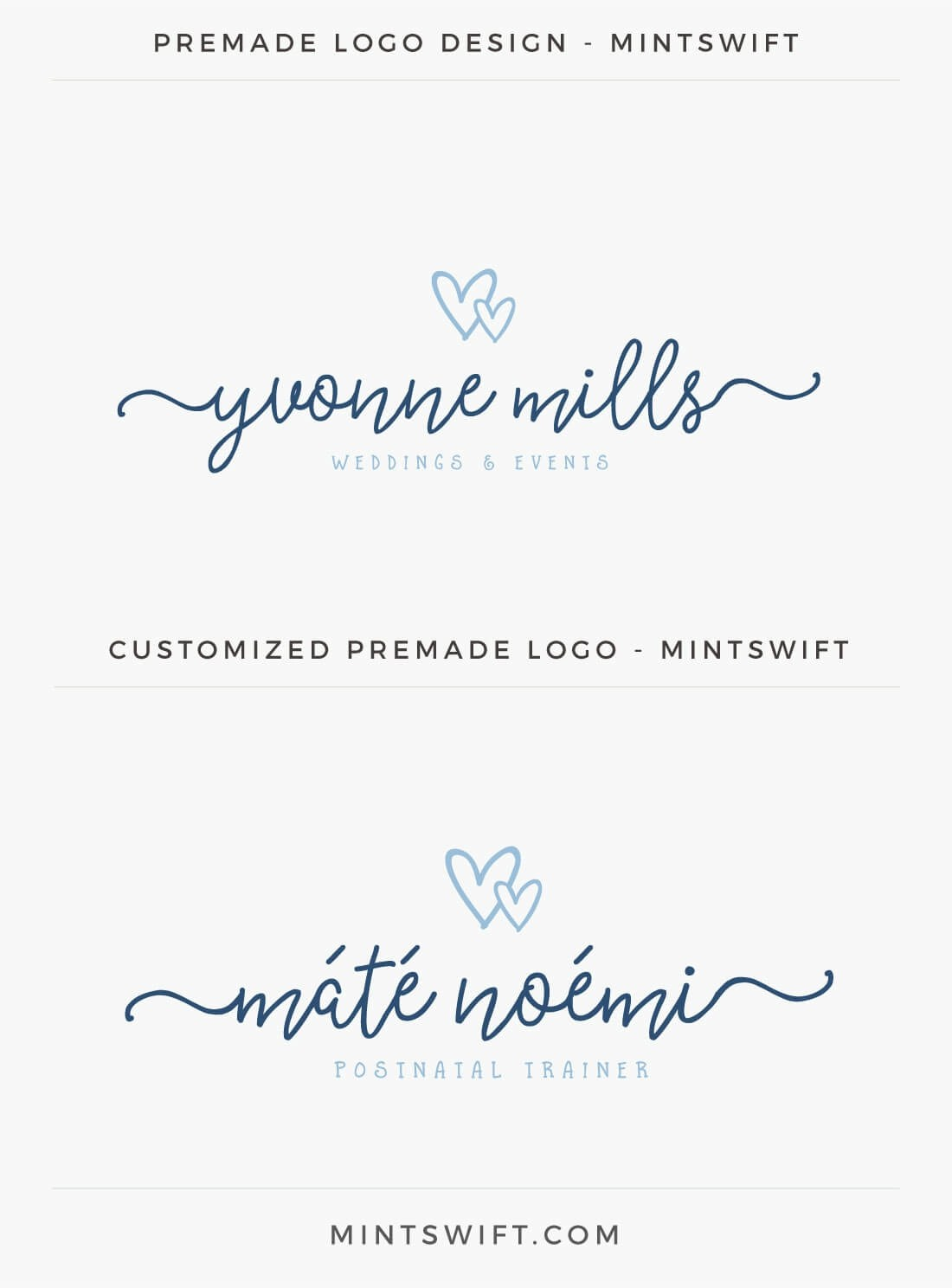 Premade Logo from Mint Swift Shop customization