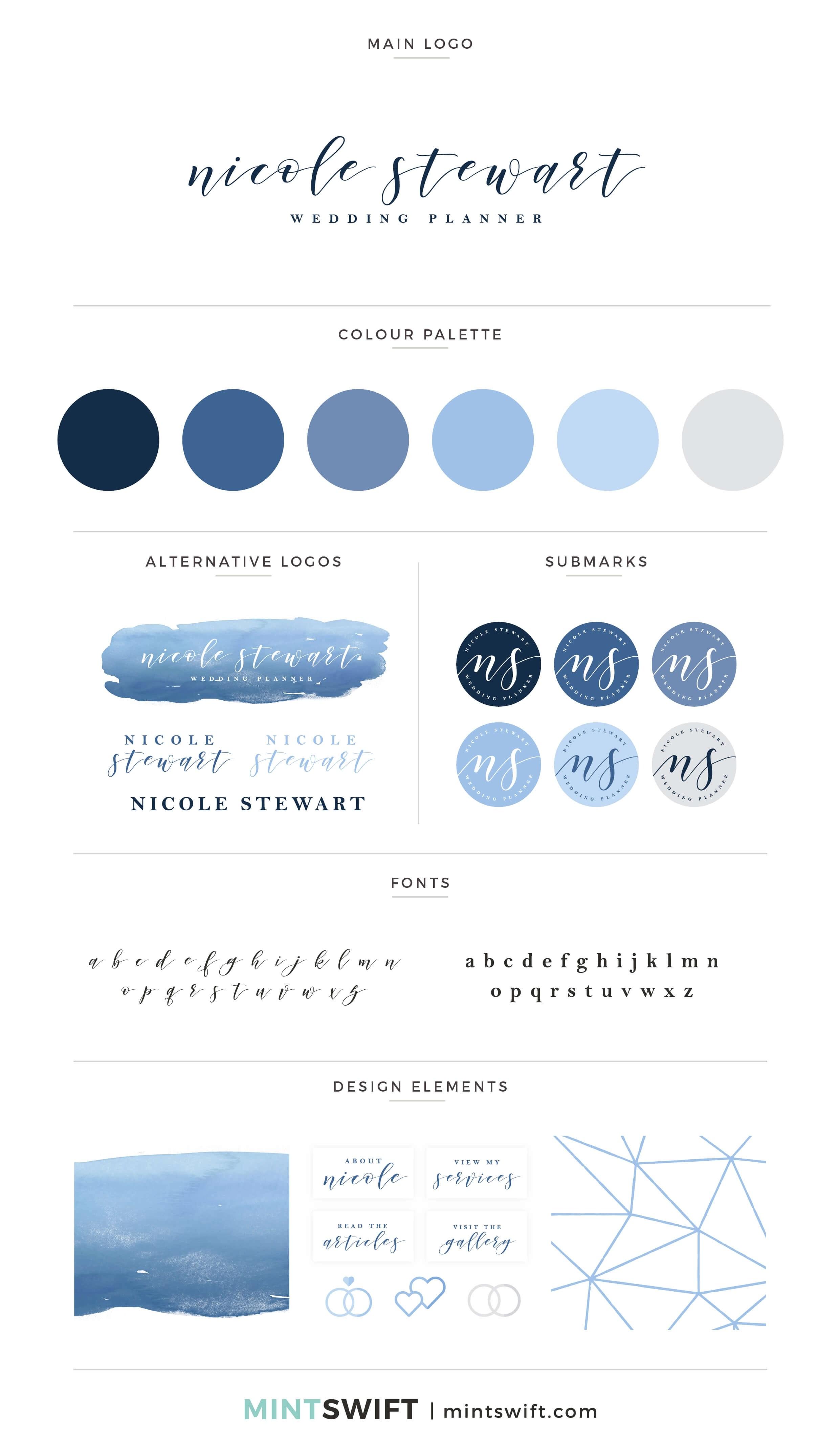 Nicole Stewart - Brand Board - Brand Design Package - MintSwift