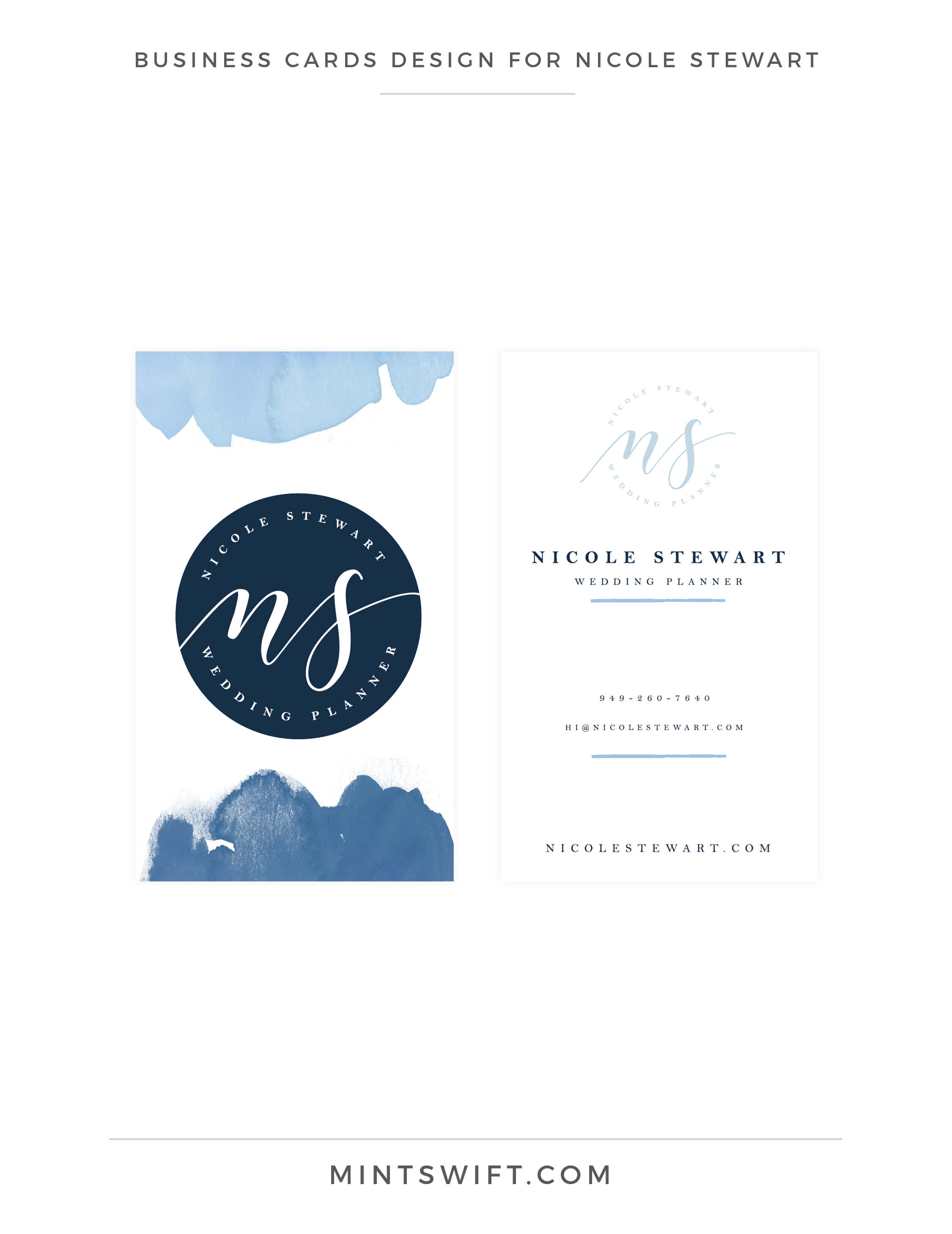 Nicole Stewart - Business Cards Design - Brand Design Package - MintSwift